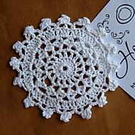 Zaokrąglanie Kwiatowy Podkładki Podstawki , 100% Cotton MateriałWeselne Kolacja Christmas Decor Favor Tabela Dceoration Wesela Kolacja