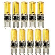 Χαμηλού Κόστους Φωτιστικά LED δυο ακίδων-10pcs 4 W 450 lm E14 G9 G4 LED Φώτα με 2 pin T 4 leds COB Με ροοστάτη Διακοσμητικό Θερμό Λευκό Ψυχρό Λευκό AC 220-240V