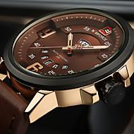 Недорогие Фирменные часы-NAVIFORCE Муж. Спортивные часы Наручные часы Японский Кварцевый Защита от влаги Календарь Творчество Натуральная кожа Группа Аналоговый Роскошь Винтаж На каждый день Черный / Коричневый -  / Два года
