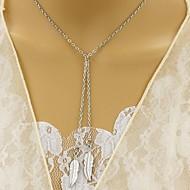 Недорогие $0.99 Модное ювелирное украшение-Жен. Синтетический алмаз Слоистые ожерелья - В форме листа Уникальный дизайн, Euramerican Золотой, Серебряный Ожерелье Назначение Для вечеринок, Повседневные