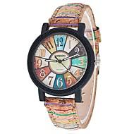 ieftine Bijuterii&Ceasuri-Pentru femei Ceas de Mână Quartz Ceas Casual Cool PU Bandă Analog Casual Modă Negru / Alb - Maro Un an Durată de Viaţă Baterie / Tianqiu 377