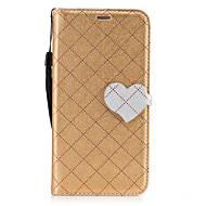 Для Бумажник для карт Кошелек со стендом Флип С узором Магнитный Кейс для Чехол Кейс для Один цвет Геометрический рисунок С сердцем