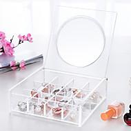 お買い得  収納&整理-ガラス プラスチック 楕円形 旅行 ホーム 組織, 1個 デスクトップオーガナイザー メイキャップ用ストレージ ジュエリーボックス ジュエリー・オーガナイザー クローゼット整理 ドレッサー・オーガナイザー ストレージボックス