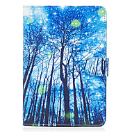 cheap iPad  Cases / Covers-Case For Apple iPad Mini 4 iPad Mini 3/2/1 Card Holder Wallet with Stand Flip Magnetic Pattern Full Body Cases Tree Hard PU Leather for