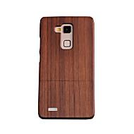 お買い得  携帯電話ケース-ケース 用途 Huawei Huawei社メイト7 耐衝撃 バックカバー 木目 ハード 木製 のために Huawei Mate 7 Huawei
