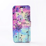 Кейс для Назначение SSamsung Galaxy S8 Plus S8 Бумажник для карт со стендом Флип С узором Чехол одуванчик Твердый Искусственная кожа для