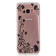 Недорогие Чехлы и кейсы для Galaxy S7 Edge-Кейс для Назначение SSamsung Galaxy S8 Plus S8 Прозрачный С узором Кейс на заднюю панель Бабочка Цветы Мягкий ТПУ для S8 Plus S8 S7 edge
