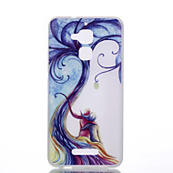 Для zenfone 3 max ze552kl ze520kl tpu материал новый шаблон дерева любовников светящийся корпус телефона