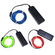 billige LED-stribelys-3W W Fleksible LED-lysstriber 250 lm <5V 3 m leds Multifarvet