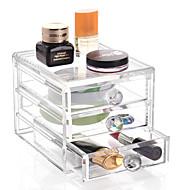 abordables Almacenamiento de escritorio-El plastico Óvalo Viaje Casa Organización, 1pc Contenedores Organizadores de Escritorio Almacenamiento de Maquillaje Cajas de Joyería