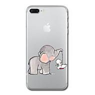 Etui Käyttötarkoitus Apple iPhone X iPhone 8 Läpinäkyvä Kuvio Takakuori Elefantti Pehmeä TPU varten iPhone X iPhone 8 Plus iPhone 8