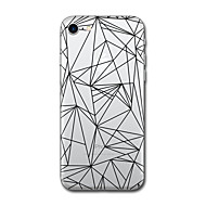 Funda Para Apple iPhone X / iPhone 8 Diseños Funda Trasera Azulejo / Diseño Geométrico Suave TPU para iPhone X / iPhone 8 Plus / iPhone 8