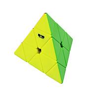 halpa Harrastukset-Rubikin kuutio QI YI QIMING 174 pyraminx Tasainen nopeus Cube Rubikin kuutio Puzzle Cube Stickerless Kolmia Syntymäpäivä Lasten päivä