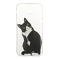 olcso Galaxy A tokok-Case Kompatibilitás Samsung Galaxy A5(2017) A3(2017) Minta Fekete tok Cica Állat Puha TPU mert A3 (2017) A5 (2017) A5(2016) A3(2016)