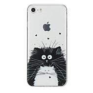 Недорогие Кейсы для iPhone 8-Кейс для Назначение Apple iPhone X iPhone 8 С узором Кейс на заднюю панель Кот Животное Мягкий ТПУ для iPhone X iPhone 8 Pluss iPhone 8