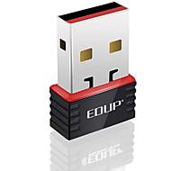 お買い得  -edup usb無線LANアダプタ150mbpsミニwifiドングルネットワークLANカードep-n8508