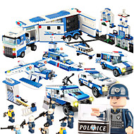 cheap Toys & Hobbies-SHIBIAO Building Blocks Toys Warship Plane / Aircraft Police Military DIY Plastics Unisex 1040 Pieces