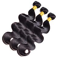 Χαμηλού Κόστους Συνθετικές περούκες-Ινδική Κυματομορφή Σώματος Υφάνσεις ανθρώπινα μαλλιών 1 Τεμάχιο 0.1