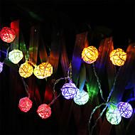 W Fâșii de Iluminat lm Baterie 2 m 20 led-uri Alb Cald Multicolor