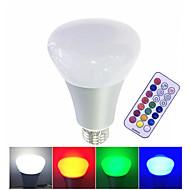 10W Smart LED-lampe Højeffekts-LED 500 lm Varm hvid RGB Hvid Dæmpbar Fjernstyret V 1 stk.