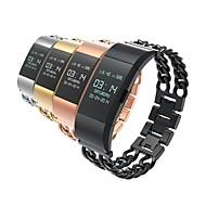 Недорогие Аксессуары для смарт-часов-Ремешок для часов для Fitbit Charge 2 Fitbit Классическая застежка Нержавеющая сталь Повязка на запястье