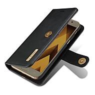Недорогие Чехлы и кейсы для Galaxy A7(2017)-Кейс для Назначение SSamsung Galaxy A5(2017) A3(2017) Бумажник для карт Кошелек со стендом Флип Магнитный Чехол Сплошной цвет Твердый