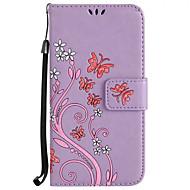 Кейс для Назначение SSamsung Galaxy S8 Plus S8 Кошелек Бумажник для карт со стендом Флип Рельефный С узором Чехол Цветы Твердый