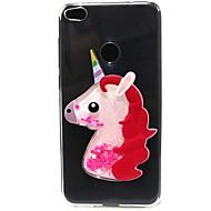 Huawei Y5 y6 ii esetben fedelet Unicorn flash por futóhomok TPU anyag diy telefon esetében p10 P9 P8 Lite Plus (2017)