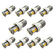 10pcs e10 7smd 2835 araba kapı lambası okuma ışık sıcak beyaz / beyaz (dc12v)