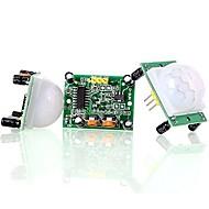 お買い得  Arduino 用アクセサリー-hc-sr501赤外線パイロモーションセンサーセンサーモジュール(3pcs)を調整する