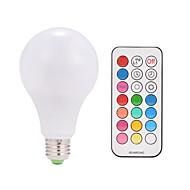 billige LED Smartpærer-9w ac85-265v e26 / e27 10w led smart pærer a80 38 smd 5050 varm hvid rgb v 1 stk