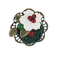 Женский Броши Базовый дизайн Цветочный принт Сплав В форме цветка Бижутерия Назначение Повседневные