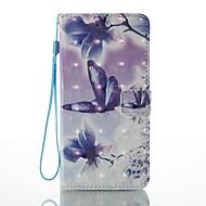 Fall für Apfel iphone 7 plus 7 Kartenhalter Brieftasche mit Standfuß Muster Fall voller Körper Fall 3d Schmetterling hart PU Leder für 6s