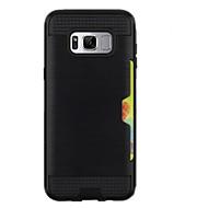 fodral Till Samsung Galaxy S8 Plus S8 Korthållare Skal Ensfärgat Hårt PC för S8 S8 Plus S7 edge S7 S6 edge plus S6 edge S6