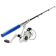 Aliminyum Alaşım Buzda Balıkçılık Oltası Fiberglas 100 santimetre Buzda Balıkçılık 5 Bölümler Balık Oltaları + Balık Oltaları Makaraları
