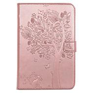 billige Etuier og covers til iPad-Til ipad mini 4 case cover kortholder lommebok med stativ flip præget fuld krops taske katte sommerfugl hard pu læder til mini 1.2.3