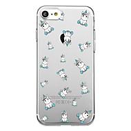 Недорогие Кейсы для iPhone 8-Назначение iPhone X iPhone 8 Чехлы панели Прозрачный С узором Задняя крышка Кейс для Плитка единорогом Мягкий Термопластик для Apple