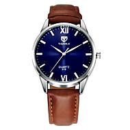 Недорогие Фирменные часы-YAZOLE Муж. Наручные часы Черный / Коричневый Повседневные часы Аналоговый На каждый день - Черный Коричневый Один год Срок службы батареи