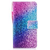 Для huawei p8 lite (2017) p10 чехол для экрана мраморный радужный песок узор окрашен pu кожа материал карта стент кошелек телефон p10 plus