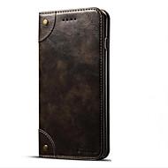 Недорогие Модные популярные товары-Чехол для яблока iphone 7 7 плюс чехол для карточек держатель с подставкой флип магнитный чехол всего тела сплошной цвет твердая кожа pu
