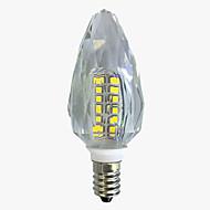 tanie Żarówki LED świeczki-4W E14 Żarówki LED świeczki C35 40 Diody lED SMD 2835 Ciepła biel Biały 450-500lm 2800-32006000-6500.
