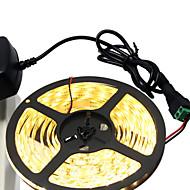 お買い得  -5m フレキシブルLEDライトストリップ 300 LED 5630 SMD 温白色 / ホワイト カット可能 / ノンテープ・タイプ 12 V 1個
