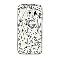 billige Galaxy S6 Edge Plus Etuier-Etui Til Samsung Galaxy S8 Plus S8 Transparent Mønster Bagcover Linjeret / bølget Geometrisk mønster Blødt TPU for S8 S8 Plus S7 edge S7