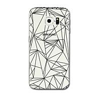 Недорогие Чехлы и кейсы для Galaxy S6 Edge Plus-Кейс для Назначение SSamsung Galaxy S8 Plus S8 Прозрачный С узором Кейс на заднюю панель Полосы / волосы Геометрический рисунок Мягкий ТПУ