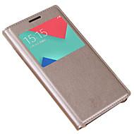 Etui Käyttötarkoitus Samsung Galaxy A5(2017) A3(2017) Ikkunalla Flip Kokonaan peittävä Yhtenäinen väri Kova PU-nahka varten A3 (2017) A5