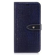 Недорогие Чехлы и кейсы для Galaxy S7 Edge-Кейс для Назначение SSamsung Galaxy S8 Plus S8 Бумажник для карт Кошелек со стендом Флип Рельефный Чехол Сплошной цвет Твердый Кожа PU для