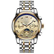 Недорогие Фирменные часы-Tevise Муж. Жен. Для пары Спортивные часы Модные часы Часы со скелетом С автоподзаводом 30 m Защита от влаги Календарь Светящийся Нержавеющая сталь Группа Аналоговый Винтаж На каждый день Богемные