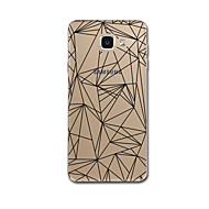 Недорогие Чехлы и кейсы для Galaxy A8-Кейс для Назначение SSamsung Galaxy A5(2017) A3(2017) Прозрачный С узором Кейс на заднюю панель Полосы / волосы Геометрический рисунок