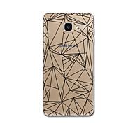 abordables Galaxy A5(2017) Carcasas / Fundas-Funda Para Samsung Galaxy A5(2017) A3(2017) Transparente Diseños Funda Trasera Líneas / Olas Diseño Geométrico Suave TPU para A3 (2017)
