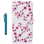 baratos -Caso para apple ipod touch 5 touch 6 estojo de corpo completo padrão com stylus flower hard pu leather